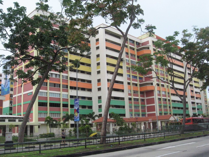 A Singapore HDB apartment block