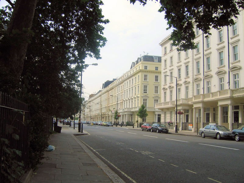 Affluent area in Westminster, London