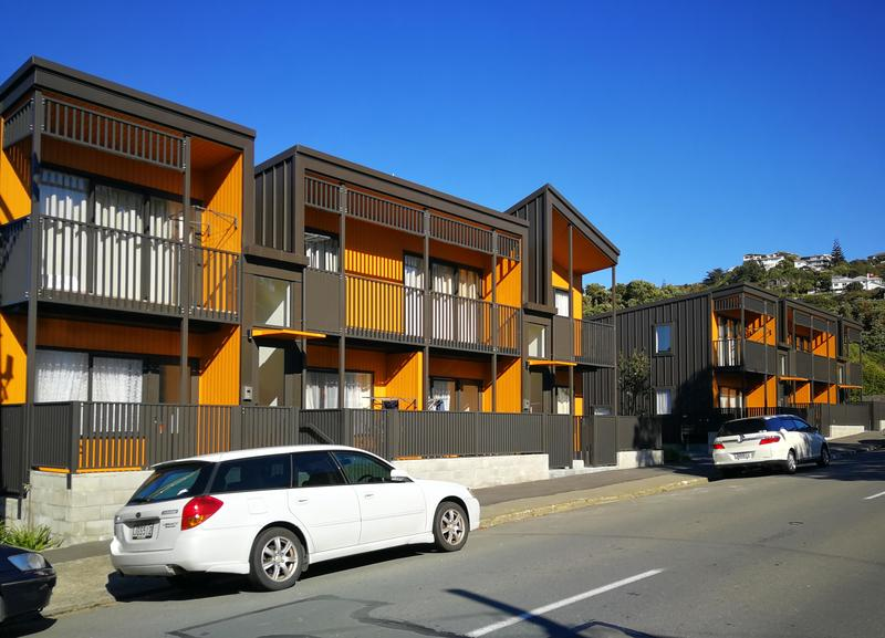 New terraced houses in Berhampore, Wellington