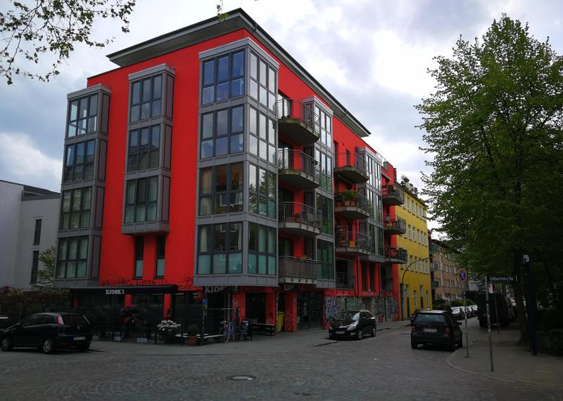 Contemporary apartment building in Hamburg, Germany