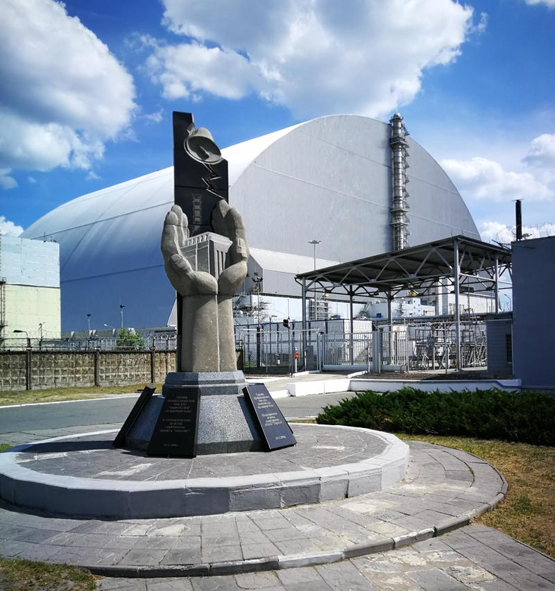 Memorial to the dead at Reactor 4, Chernobyl Nuclear Power Plant